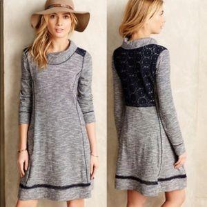 Anthro Saturday Sunday sweater Dress XS Burgundy